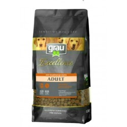 Grau Excellence ADULT sensitive with insect 1,5 kg  sausas pašaras